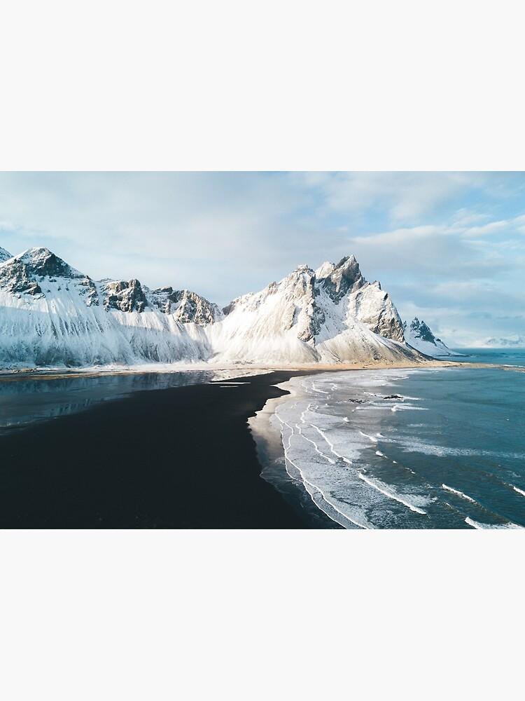 Playa de Islandia al atardecer - Fotografía de paisaje de regnumsaturni