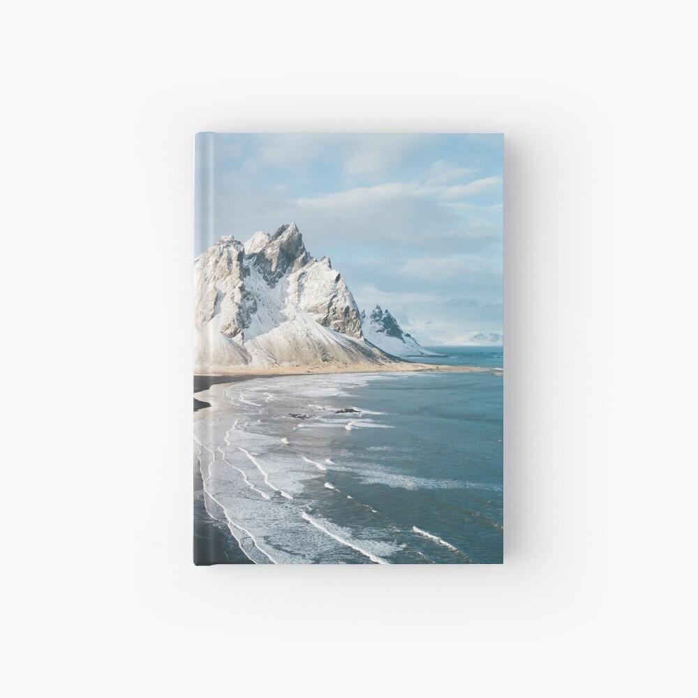 Playa de Islandia al atardecer - Fotografía de paisaje Cuaderno de tapa dura