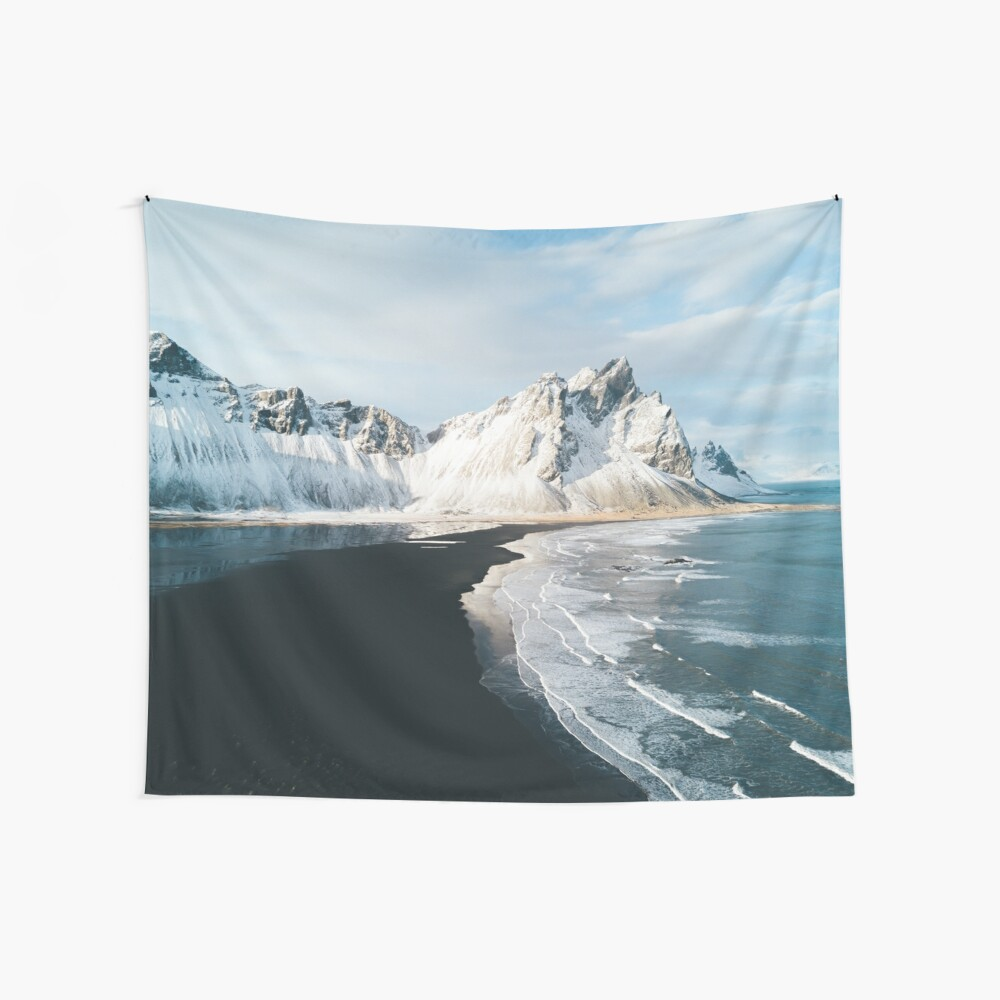 Iceland beach at sunset - Landscape Photography Wall Tapestry