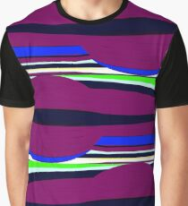 Abstract - Purple Multi Stripe Graphic T-Shirt