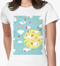 Let's Go Fly A Kite Womens Fitted T-Shirt