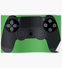 Video Game Console Playstation 4 Dualshock Gamepad Poster
