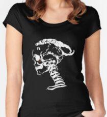 XXXTENTACION - SKULL [WHITE DESIGN] Women's Fitted Scoop T-Shirt