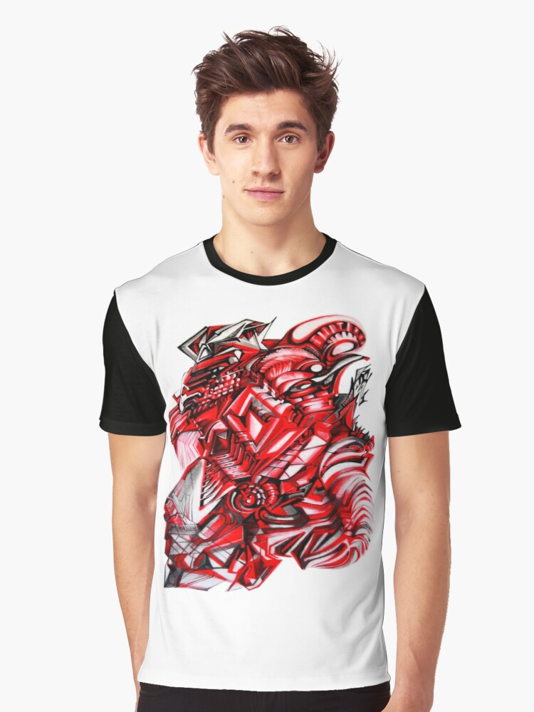 BLACK AND RED Graphic T-Shirt Front