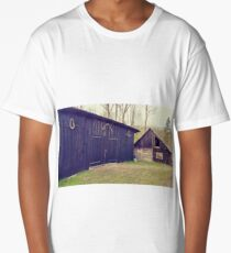 Village old buildings Long T-Shirt