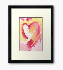 Oh My Heart Framed Print