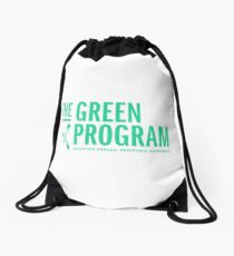 """""""The GREEN Program Education Abroad. Redefined. Reinvented."""" Drawstring Bag"""