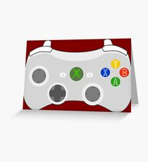 Video Game Console Xbox 360 Controller Gamepad Greeting Card