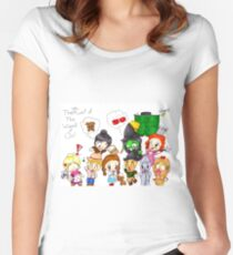 The Chibi Cast of The Wizard of Oz Women's Fitted Scoop T-Shirt