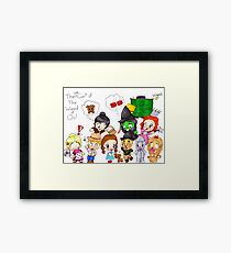 The Chibi Cast of The Wizard of Oz Framed Print