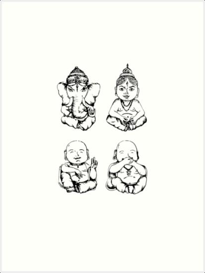 Mini Buddhas by meganssch