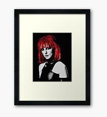 Hayley Williams of Paramore Framed Print