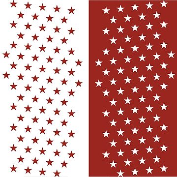 Red and White Stars by emmybdesigns
