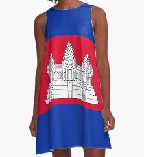 Flag of Cambodia A-Line Dress