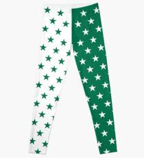 Grüne und weiße Sterne Leggings