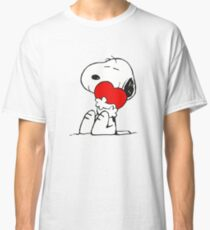 SNOOPY LOVE HUGGING Classic T-Shirt