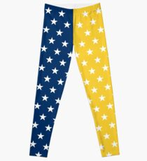 Blue and Yellow Stars Leggings