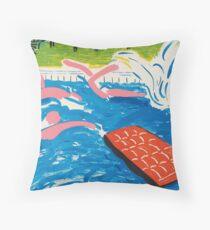 "DAVID HOCKNEY, ""Afternoon Swimming"". 1980 Throw Pillow"