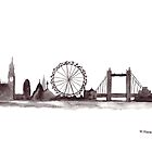 London skyline watercolour by Monika Howarth