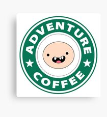 Adventure Finn Coffee Canvas Print