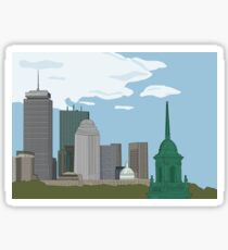 Simmons Boston Skyline Sticker