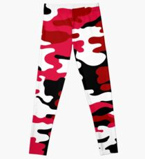 Red and White Army Leggings