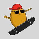 Skater Potato by cartoonbeing