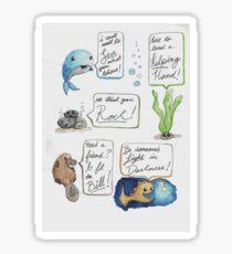 Motivational Stickers, Sea Creatures Sticker