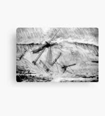 My pencil drawing of the Last Moments of an Old Sailing Ship Canvas Print