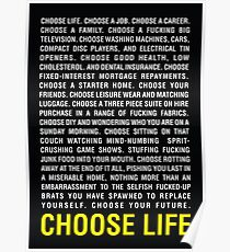 Trainspotting | Choose Life Poster