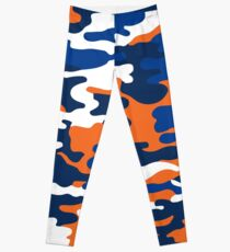 Blau und Orange Armee Leggings
