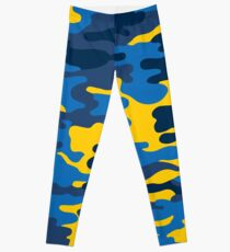 Blaue und Gelbe Armee Leggings
