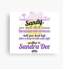Goodbye to Sandra Dee Canvas Print
