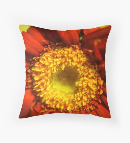 Sunny Red Throw Pillow
