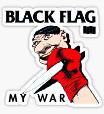 black flag Sticker