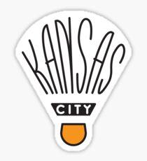 Kansas City Shuttlecock Type Sticker
