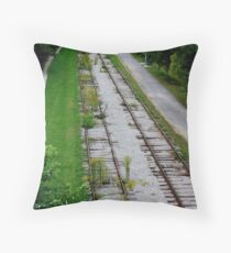 Dead Tracks in Guelph Throw Pillow