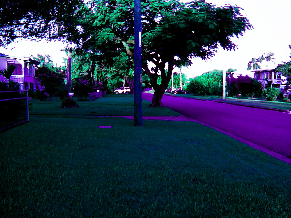 Follow the purple cemented road. by footyman
