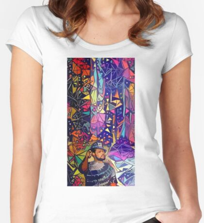 Abstract Schoolboy Q Fitted Scoop T-Shirt