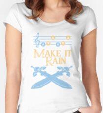 Make It Rain Zelda Inspired Design Women's Fitted Scoop T-Shirt