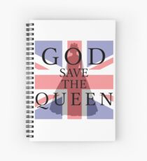 God Save the Queen Spiral Notebook