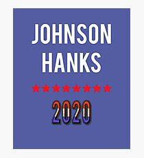 Johnson Hanks 2020 Presidential Election T-shirt Photographic Print