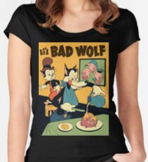lil bad wolf Women's Fitted Scoop T-Shirt
