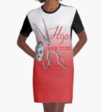 YOUR Hair Studio Name Design  Graphic T-Shirt Dress