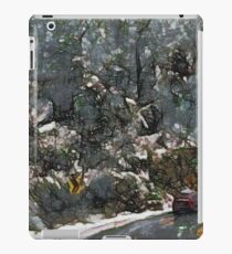 Vehicle in icy conditions iPad Case/Skin