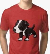 Black And White EBT Puppy  Tri-blend T-Shirt