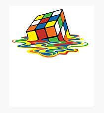 Melting Rubix Cube Design! All Items Available! Photographic Print