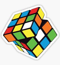 Twisting / Spinning Rubix Cube Design Sticker