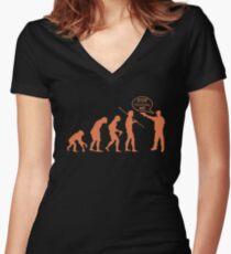 Thug Evolution - T-shirt Women's Fitted V-Neck T-Shirt
