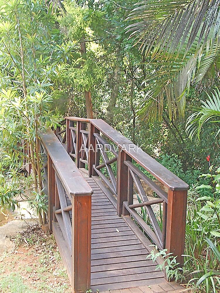 A Footbridge To Serenity Lodge by AARDVARK